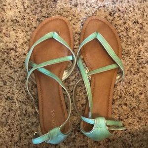 Mint strappy sandals